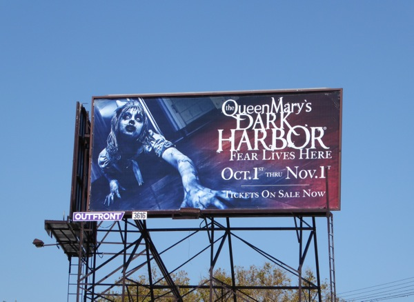Queen Marys Dark Harbor Halloween 2015 billboard