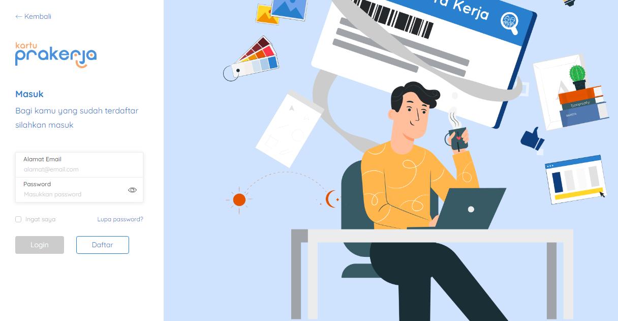cara daftar kartu prakerja online
