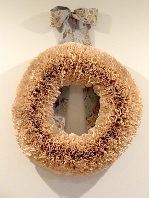 Sew Many Ways...: Tool Time Tuesday...Coffee Filter Wreath