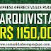 ARQUIVISTA REMUNERAÇÃO R$ 1.150,00 PARA COMERCIO ATACADISTA DE AUTOPEÇAS