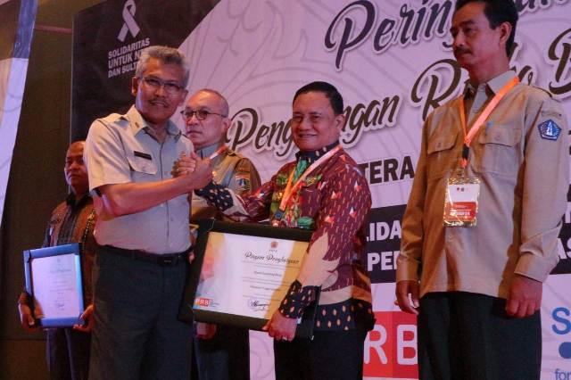 Inisiasi Kabupaten Tangguh Bencana, Lambar Terima Reward  BNPB RI