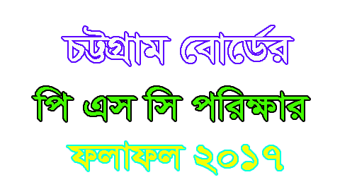 PSC Result 2017 Chittagong Board
