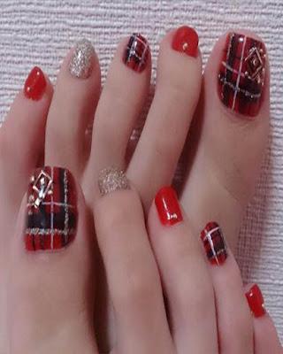 decoracion de uñas navideñas faciles