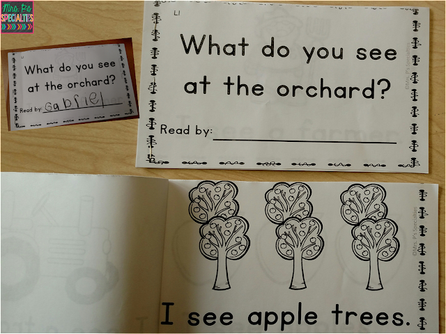 photo of the what do you see at the orchard student booklet