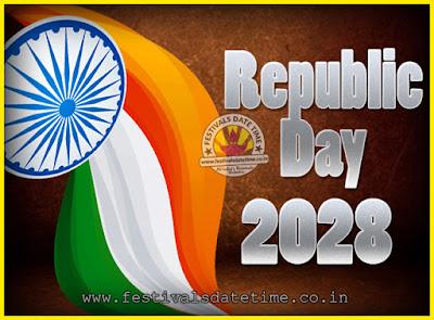 2028 Republic Day of India Date, 2028 Republic Day Calendar