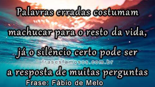 Frases Fábio de Melo: Palavras Erradas Costumam Machucar para o Resto da Vida