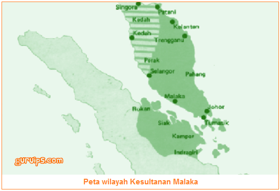 Gambar peta wilayah kerajaan Malaka