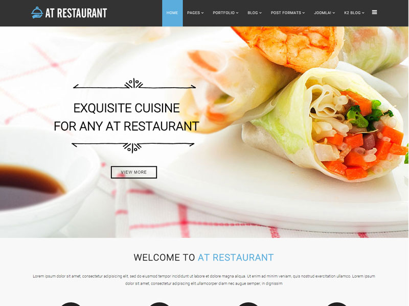 freedownloadtemplates: Joomla restaurant templates