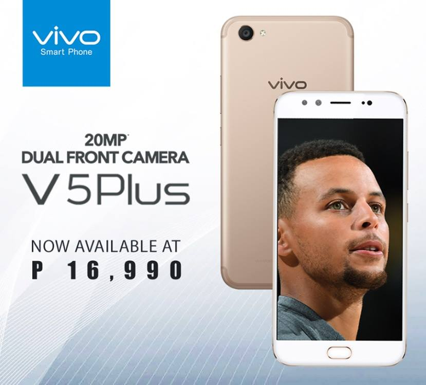 Vivo V5 Plus with Dual Perfect Selfie Cameras Now Only Php16,990