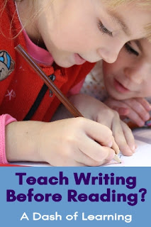 Teach Writing Before Reading?