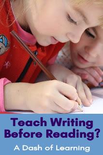 Teach Writing Before Reading?