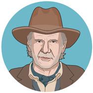 Cowboys & Aliens, 2011: DOLARHYDE DE MADERA DE COLONEL: Un hombre endurecido que dirige la ciudad de Absolution en el Viejo Oeste.