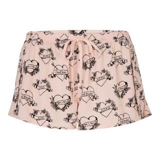 Short de pyjama rose