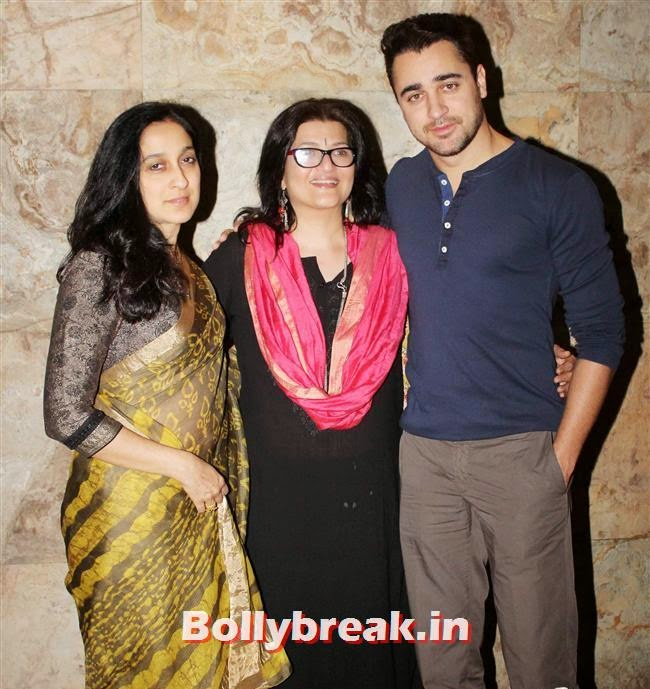 Imran Khan with his mother Nuzhat Khan and Sarika, Celebs as Special Screening of Club 60