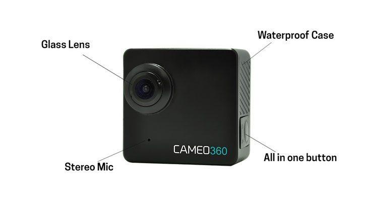 Экшн-камера Cameo360 с двумя объективами для записи 360-градусного видео в 4K
