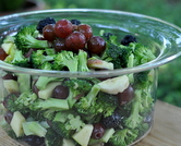 Power Food Broccoli Salad ♥ KitchenParade.com