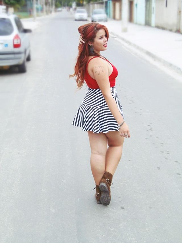 Phany Pinheiro, blogueira brasileira, modelo plus size famosa, plus size model, brazilian, ruiva, red hair, blog de moda, gordinha, look do dia,
