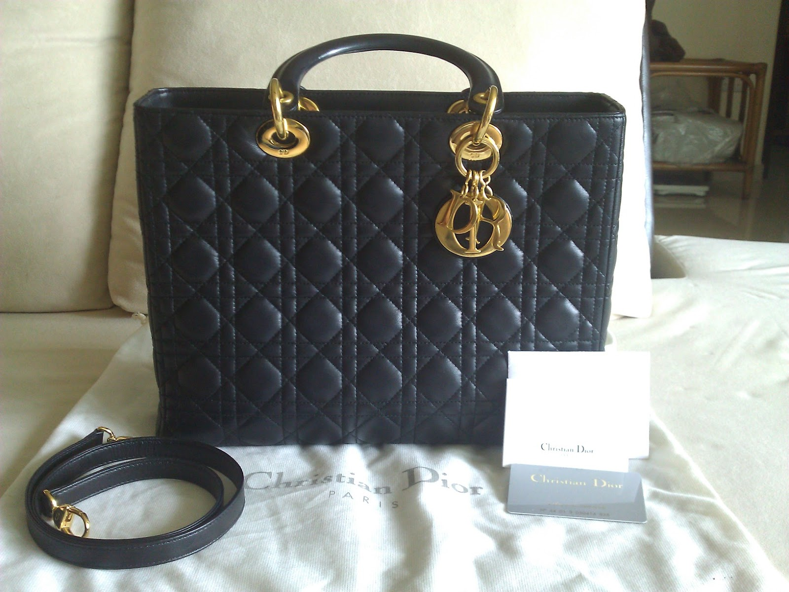 Bemydreambags   DRL717 Lady dior black lambskin large with GHW 7344cf35f950c