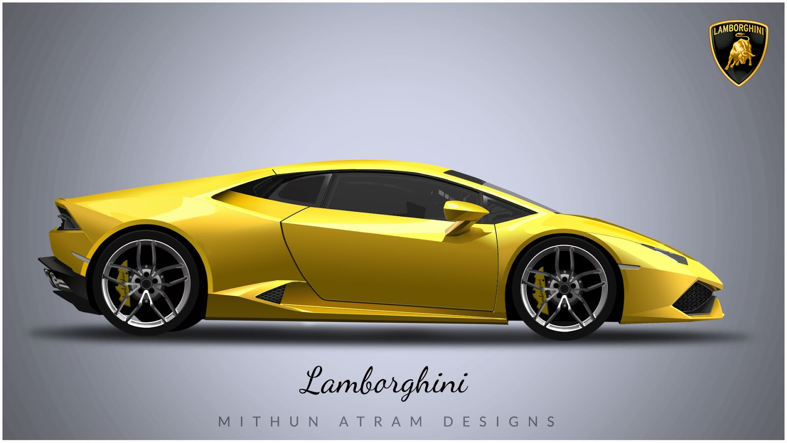 Lamborghini In Photoshop Mithun Atram Designs