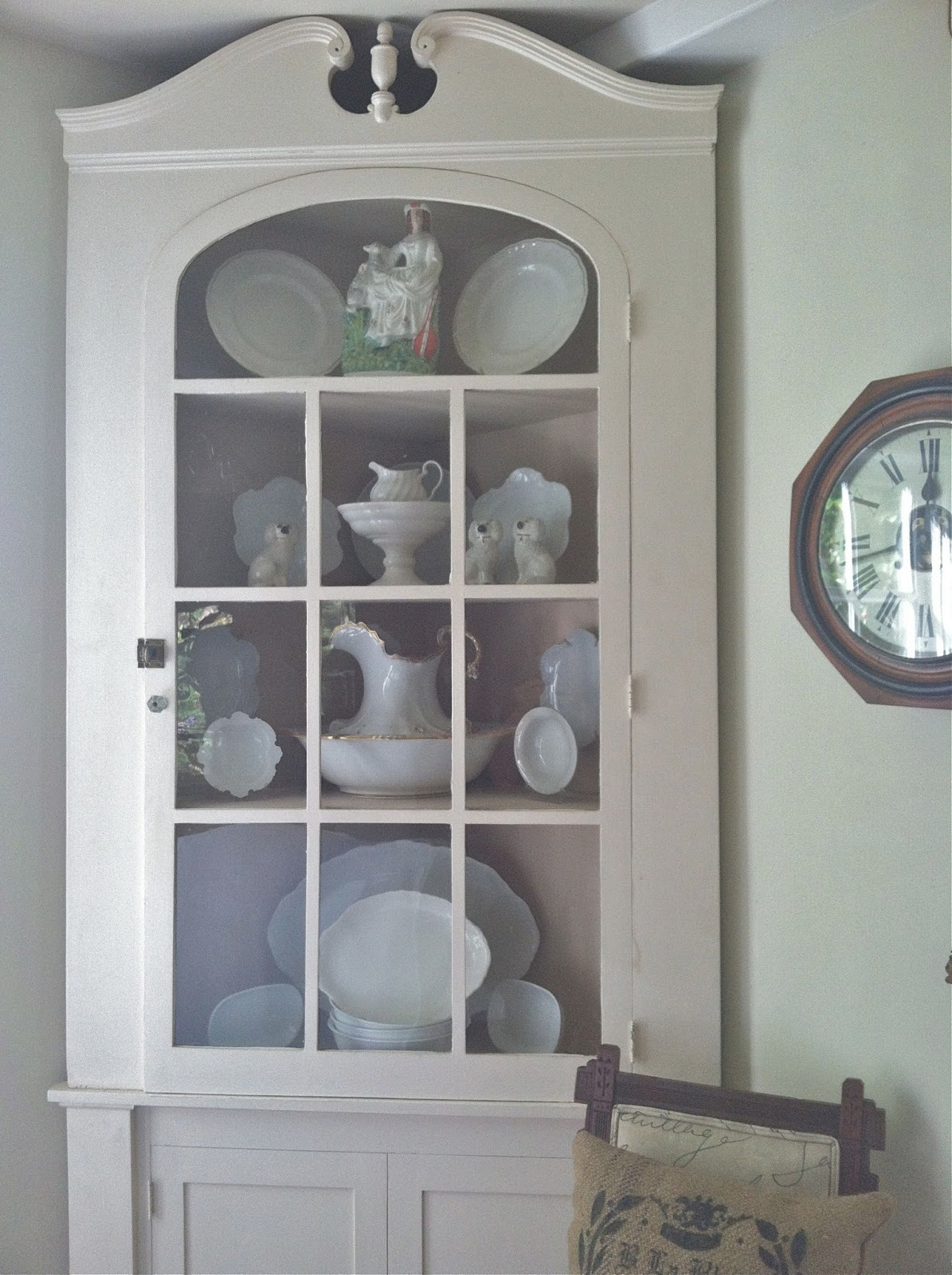 White Corner Kitchen Cabinet Storage Unit Cordelia 39s Cottage Cupboard Painted And Redecorated