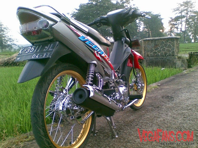 Modifikasi Vega R New Merah Abu Abu Modif Standar Simple
