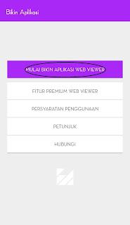 tekan MULAI BIKIN APLIKASI WEB VIEWER untuk membuat aplikasi