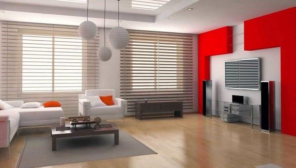Ruang keluarga yang nyaman dalam sebuah rumah moderen