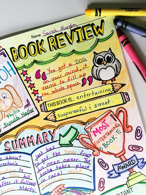 Take book reports and book projects to a whole new level with this super fun Doodle Book Review! First, students complete a step-by-step planning guide. They'll reflect on the book's characters, plot, setting, and theme.