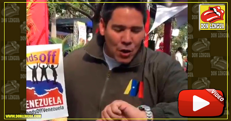 Winston Vallenilla estrena reloj de 3000 dólares y niega la Ayuda Humanitaria