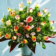 Bunga Meja Mawar Aruna Florist