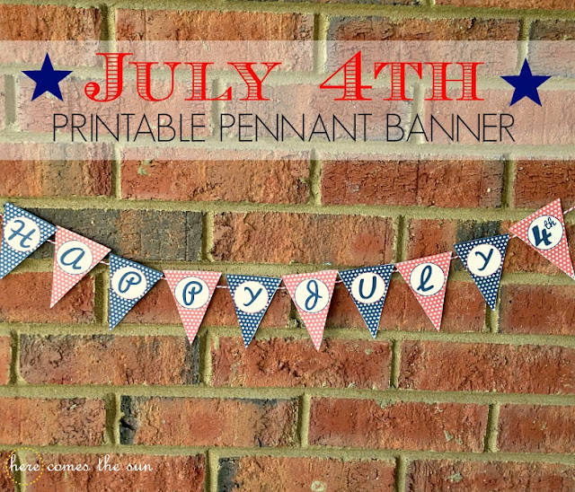 July 4th  Printable Banner