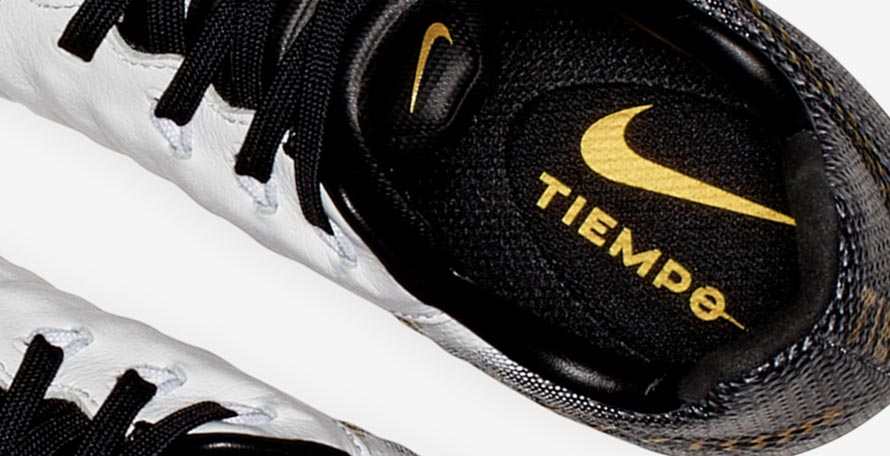 c7cab31ec117 Images of uber-classy white, black and gold Nike Tiempo Legend boots have  surfaced. According to our info they will be launched in late November /  early ...