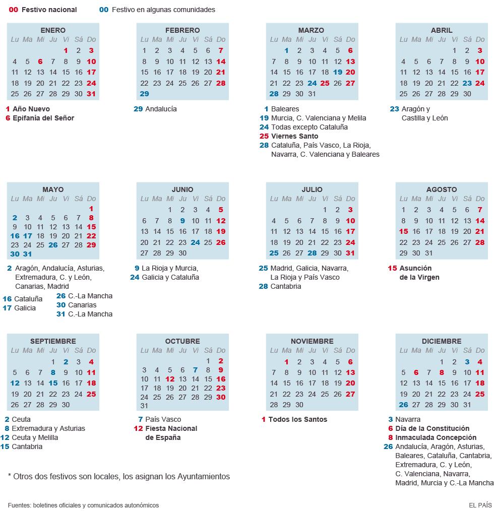 Calendario 2020 Espana Con Festivos.Ccoo Smp Automotive El Calendario Laboral De 2016 Ya Es Oficial
