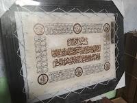 jual kaligrafi kulit asli