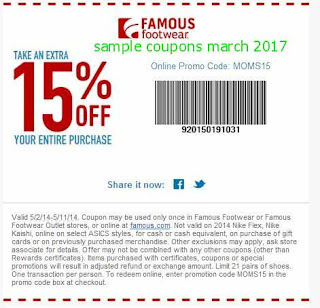 Famous Footwear coupons march 2017