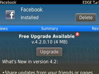 facebook versi 4.2.0.10