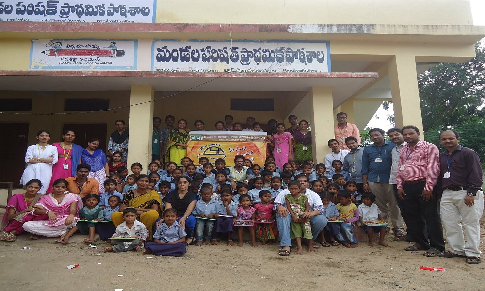 1st Event of Techwings,Books Distribution in School