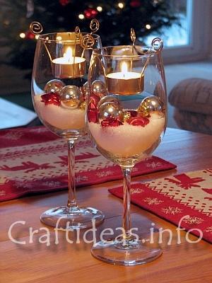 como aproveitar taças na decoração da mesa
