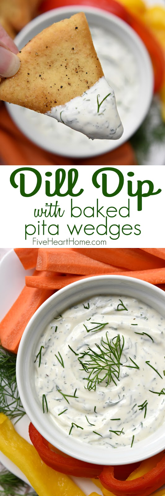 Dreamy Dill Dip with Baked Pita Wedges Recipe