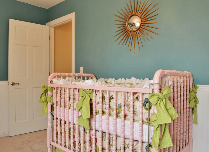 House Of Turquoise Teal And Pink Nursery