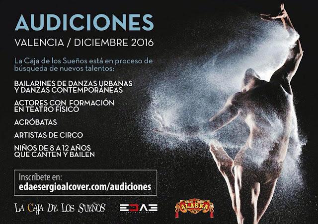INSCRIBETE EN: www.edaesergioalcover.com/audiciones