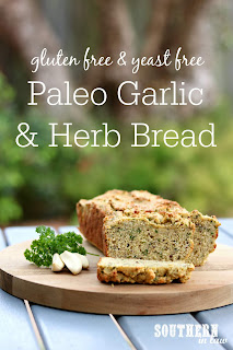 Paleo Garlic and Herb Bread Recipe Yeast Free