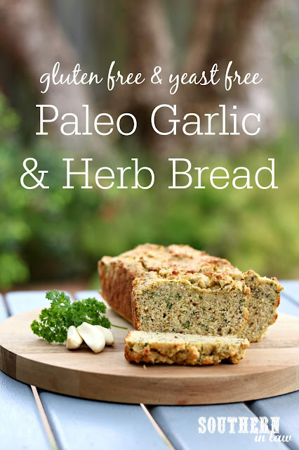 Healthy Paleo Garlic and Herb Bread Recipe - gluten free, grain free, paleo, yeast free, healthy, clean eating recipe