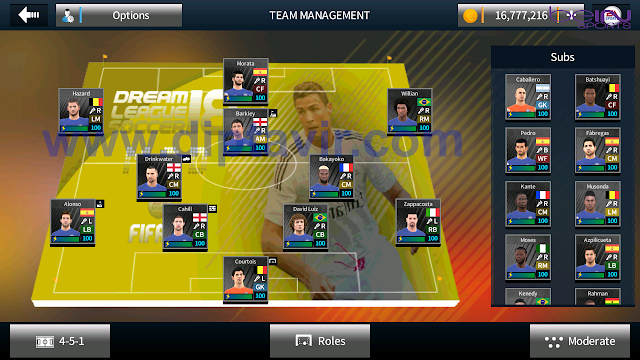 Save Data (profile.dat) Dream League Soccer Full Pemain Chelsea