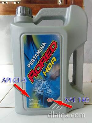 Pertamina Rored HDA API GL-5 SAE 140
