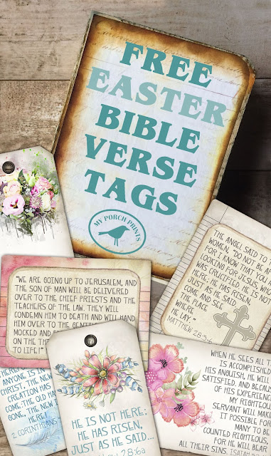 Free Easter Gift Basket Bible Verse Scripture Tags My Porch Prints