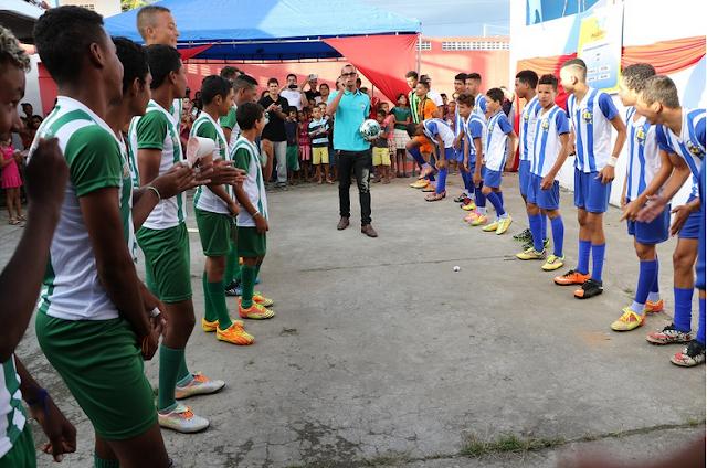 Projeto da Promotoria de Justiça de Palestina cria escola de futebol para adolescentes em situação de vulnerabilidade social