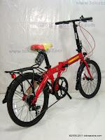 4 Sepeda Lipat Fold-X X-One Soccer Spain La Furia Roja