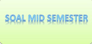 contoh soal mid semester kelas 3 MI