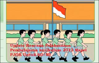 Update Rencana Pelaksanaan Pembelajaran kurikulum 2013 Mapel PJOK Untuk SD/MI Kelas 1 s.d. 6